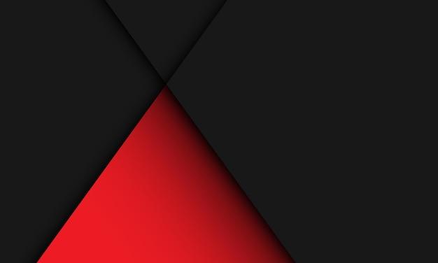 Abstrakte rote dreiecksschattenlinie auf schwarz mit modernem luxushintergrund des leerraumdesigns.