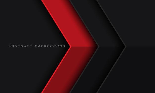 Abstrakte rote dunkelgraue metallische pfeilrichtung mit leerem raumdesign moderner luxus futuristisch