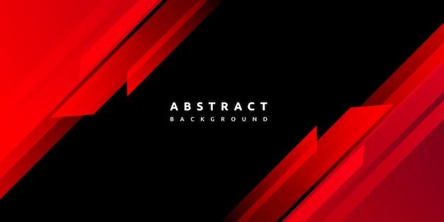 Abstrakte rote formen auf schwarzem hintergrund