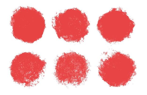 Abstrakte rote grunge-kreise