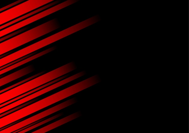 Abstrakte rote linie und schwarzer hintergrund für visitenkarte