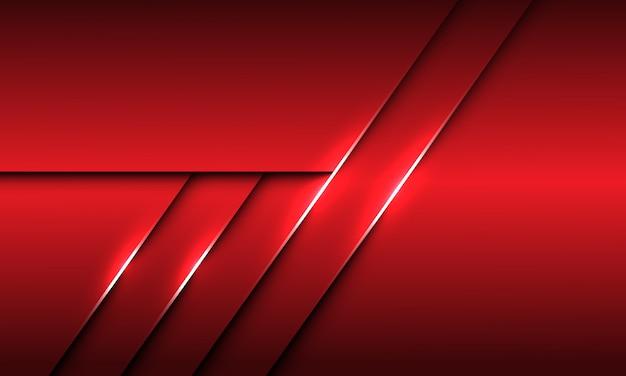 Abstrakte rote metallische linie schattenentwurf moderne futuristische hintergrundbeschaffenheit.