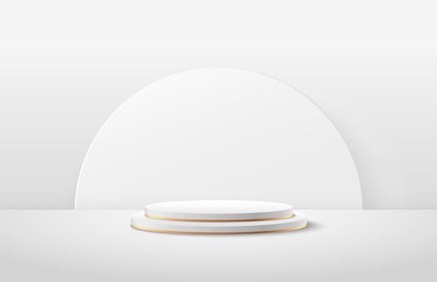 Abstrakte runde anzeige für produkt auf website in modern.