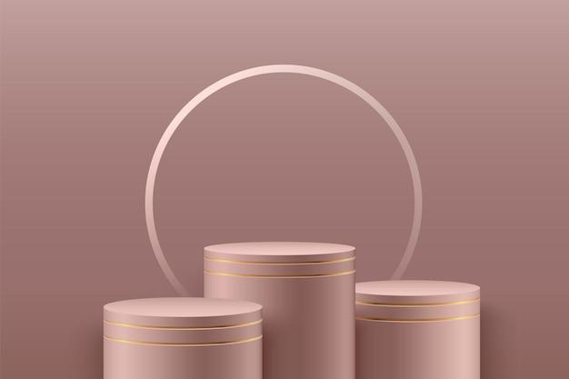 Abstrakte runde bühne für auszeichnungen in der moderne.