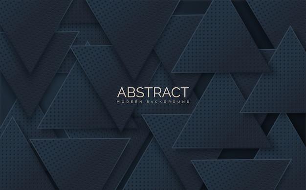Abstrakte s stapel von schwarzen dreieckigen formen.