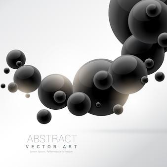 Abstrakte schwarze 3d moleküle hintergrund