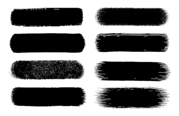 Abstrakte schwarze grunge-pinselstriche