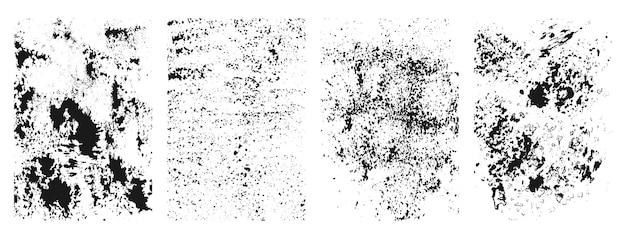 Abstrakte schwarze grunge-rahmensammlung