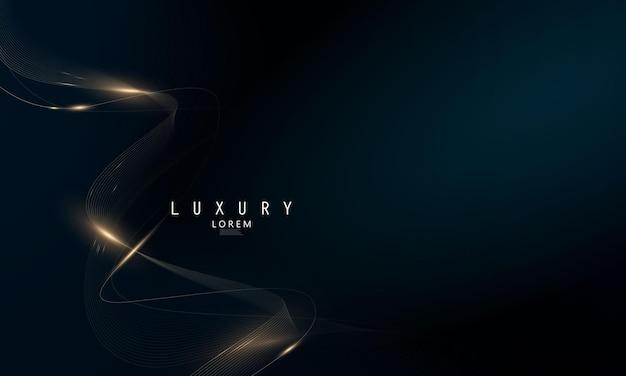 Abstrakte schwarze linie kunst hintergrund luxus weißgold modern
