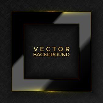 Abstrakte schwarze und goldene luxus-hintergrund-vektor-illustration