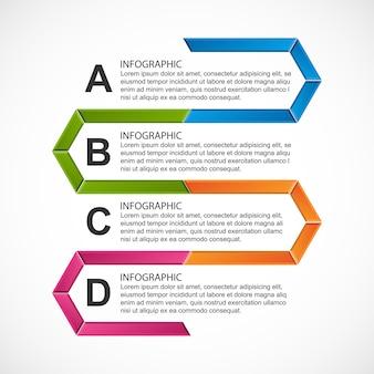 Abstrakte sechseck-infografik-vorlage.