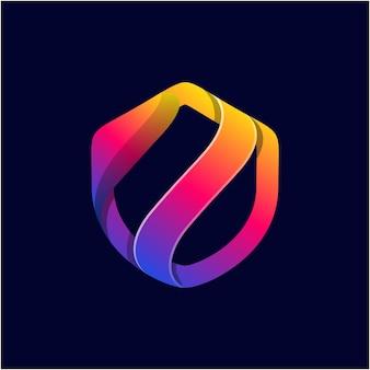 Abstrakte shields gradient logo vorlage