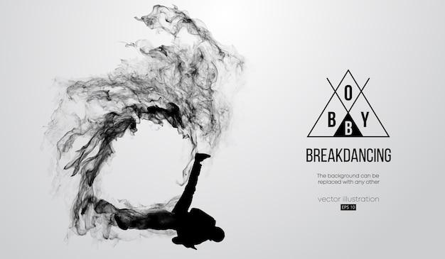 Abstrakte silhouette eines breakdancers