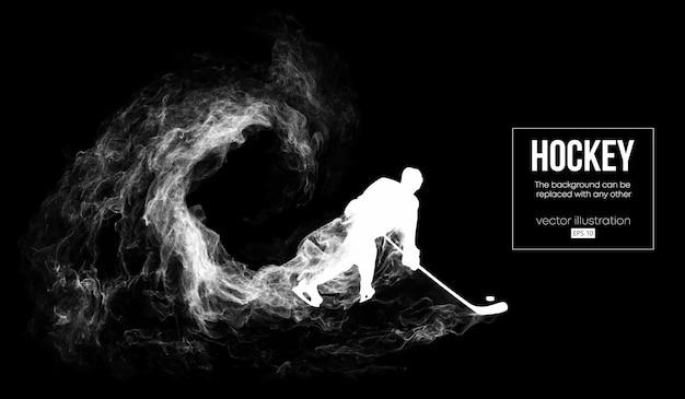 Abstrakte silhouette eines hockeyspielers