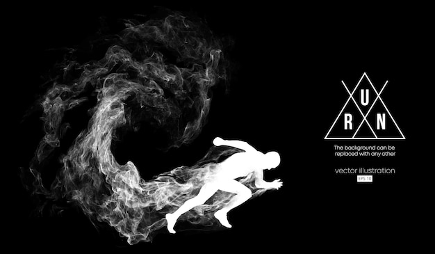 Abstrakte silhouette eines laufenden mannes