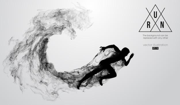 Abstrakte silhouette eines laufenden mannes Premium Vektoren