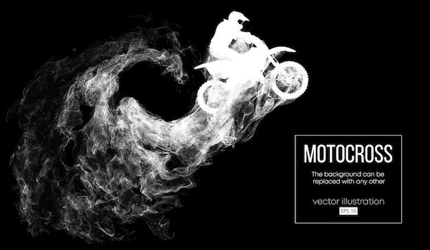 Abstrakte silhouette eines motocross-fahrers Premium Vektoren