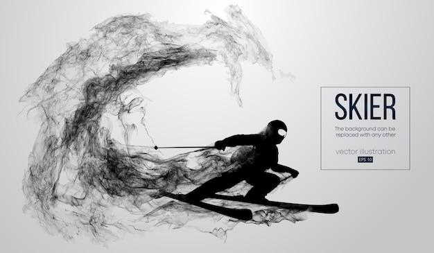 Abstrakte silhouette eines skifahrers isoliert