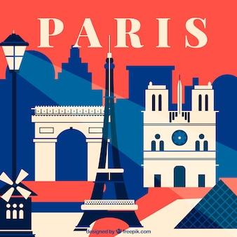 Abstrakte skyline von paris