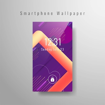 Abstrakte smartphonetapete stilvoll