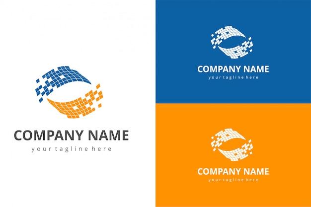 Abstrakte solar logo vorlage