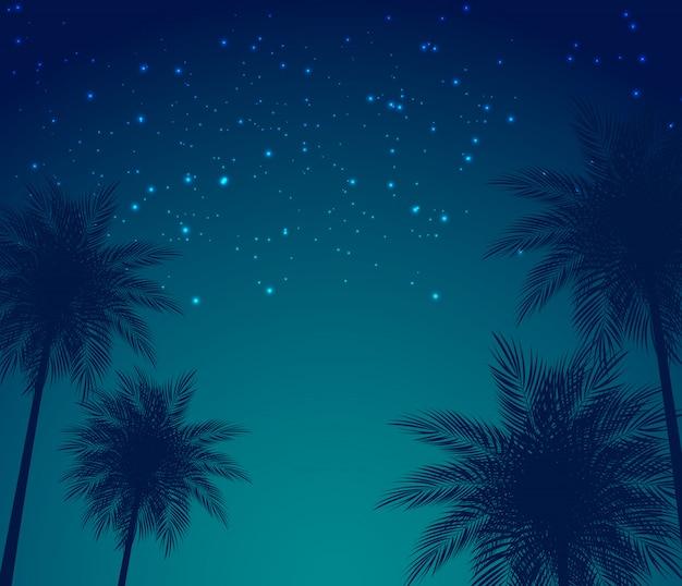 Abstrakte sommer-natürliche palmen-hintergrund-vektor-illustration
