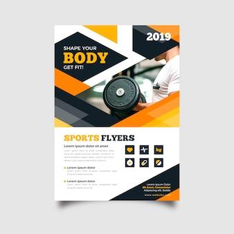 Abstrakte sport flyer vorlage