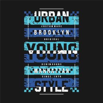 Abstrakte sportgrafikillustration der städtischen jungen arttypographie für druckt-shirt
