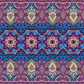 Abstrakte stammes-vintage indische textil ethnische nahtlose muster ornamental