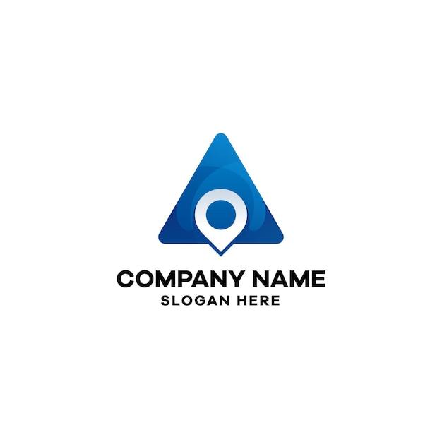 Abstrakte standort-farbverlaufs-logo-vorlage