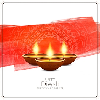 Abstrakte stilvolle glückliche dekorative grußkarte diwali