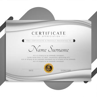 Abstrakte stilvolle zertifikatdesignpräsentation