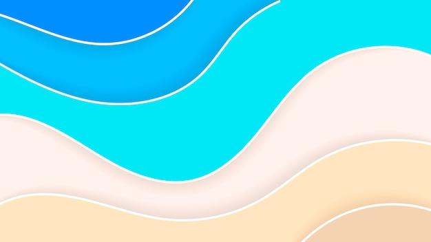 Abstrakte strand-papierart-sommerferien