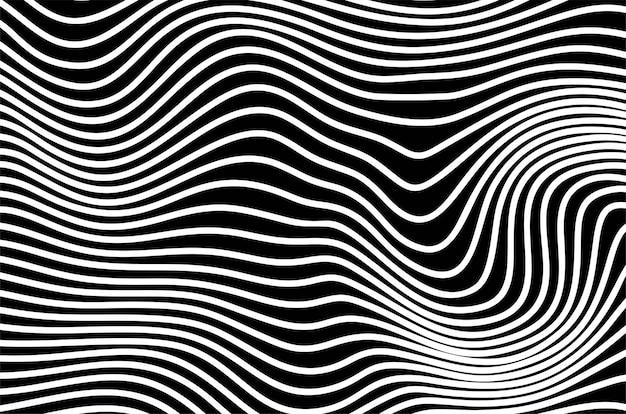 Abstrakte streifen optische kunstwellenlinie hintergrund