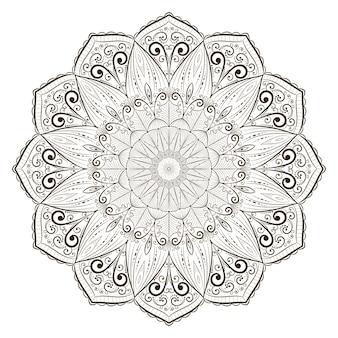 Abstrakte strichzeichnungen mandala