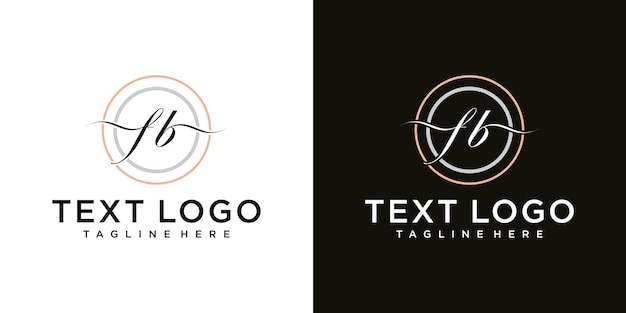 Abstrakte symbole für buchstaben fb symbol logo design-vorlage