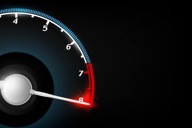 Abstrakte tachometertechnologie-konzepthintergrund vektorillustration.