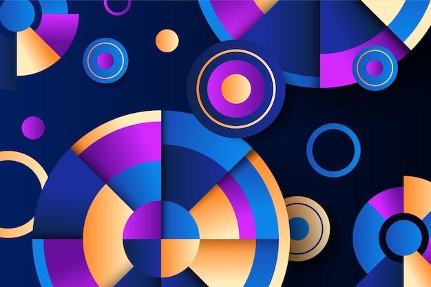 Abstrakte tapete mit geometrischen formen
