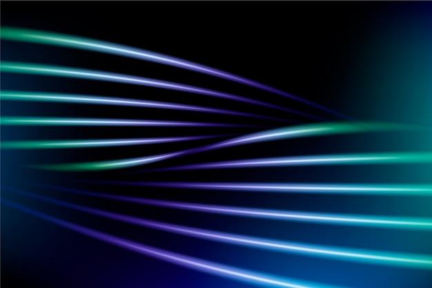 Abstrakte tapete mit neonlichtern