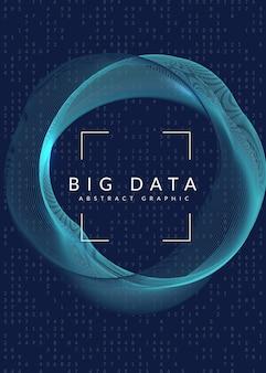Abstrakte tech-visuals. hintergrund der digitalen technologie. künstliche intelligenz, deep learning und big data-konzept für cloud-vorlagen. industrielle abstrakte tech-visuals-hintergrund.