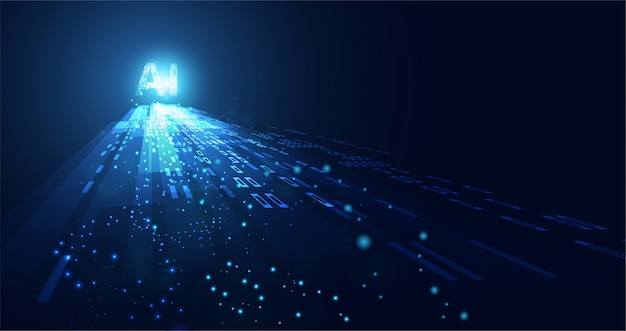 Abstrakte technologie ai berechnung von arbeitsdaten der künstlichen intelligenz