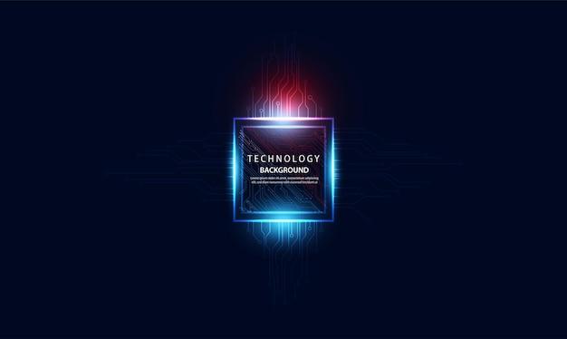 Abstrakte technologie ai computing-konzept arbeitsdaten