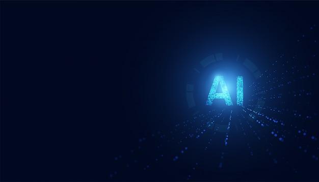 Abstrakte technologie ai sci-fi künstliche intelligenz konzeptmaschine tief