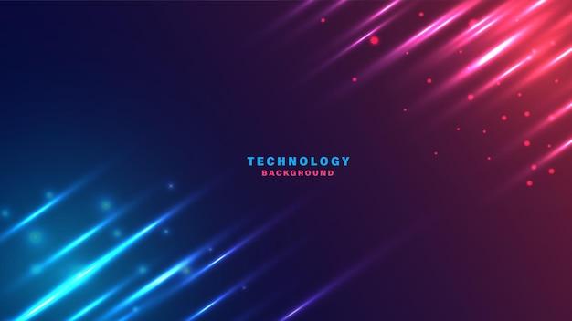 Abstrakte technologie beleuchtet hintergrund