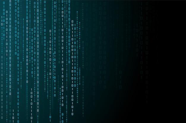 Abstrakte technologie. binärcode-hintergrund