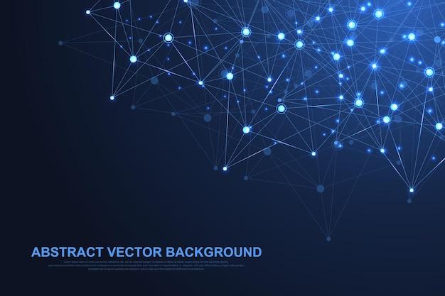 Abstrakte technologie des netzwerkverbindungskonzepts.