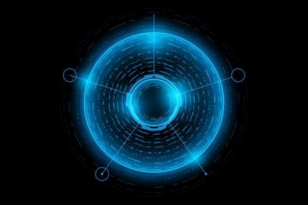 Abstrakte technologie-futuristische schnittstelle. element der digitalen benutzeroberfläche