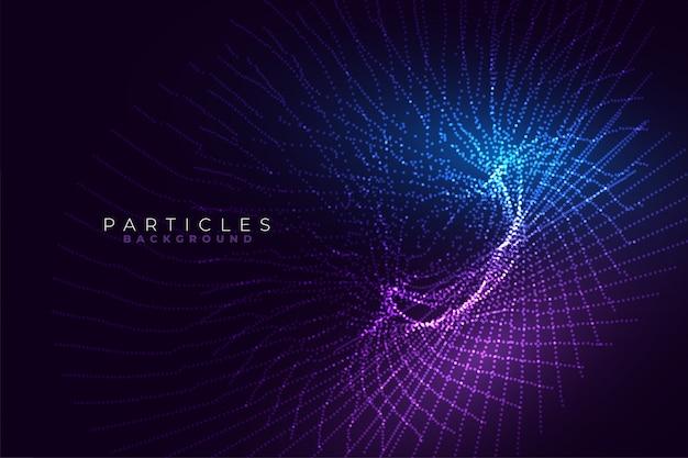 Abstrakte technologie glühende linien fraktalen stil hintergrunddesign