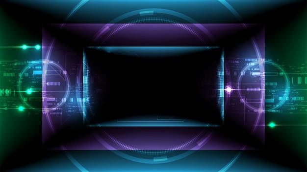 Abstrakte technologie hi-tech-kommunikationskonzept