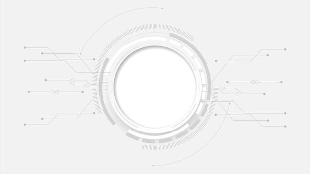 Abstrakte technologie hintergrund kreis geometrie dekoration, wissenschaft und technologie digitale linie weißen hintergrund